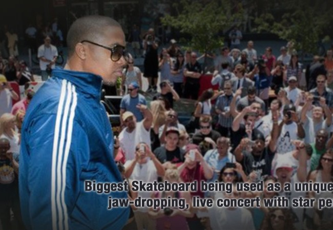 NAS Concert on World's Largest Skateboard