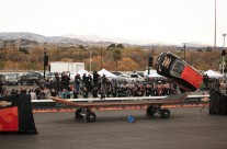 Rob Dydrek 360 Flips Sonic Car Over World's Largest Skateboard!